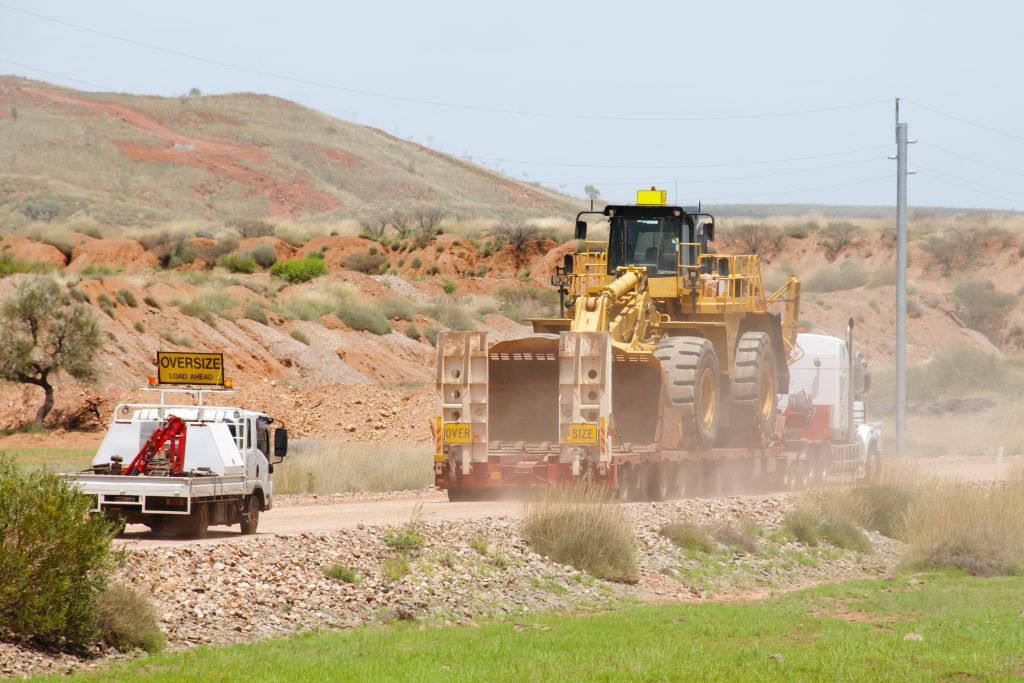bulldozer transport services by United States of Freight